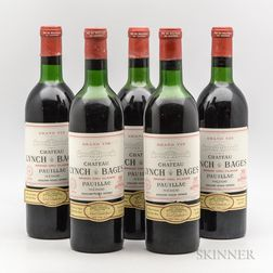 Chateau Lynch Bages 1970, 5 bottles