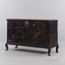 Chinoiserie-decorated Chest on Stand