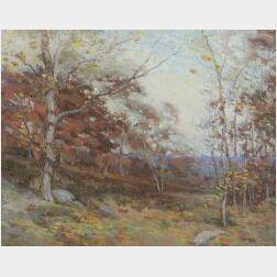 Henry R. Kenyon (American, d. 1926)  Autumn Landscape, Ipswich, Massachusetts