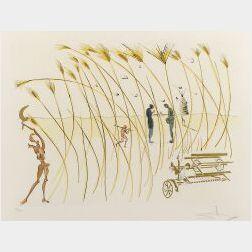 Salvador Dali (Spanish, 1904-1989)  La Moissonneuse