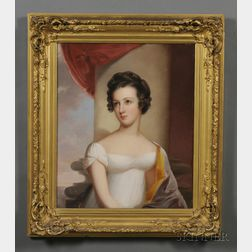 Attributed to Thomas Sully (1783-1872)      Portrait of Mary Sophia Carroll (Bayard) of Baltimore, 1822.