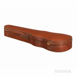 English Leather-bound Shaped Violin Case, W.E. Hill & Sons