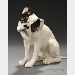 French Bulldog Pottery Figure