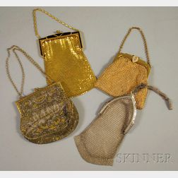 Four Antique Beaded and Mesh Purses