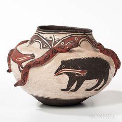 Zuni Polychrome Serpent Jar
