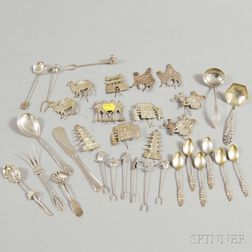 Group of Small Silver Tableware and Flatware