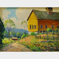 John F. Enser (American, 1898-1968)      A Lexington Hillside