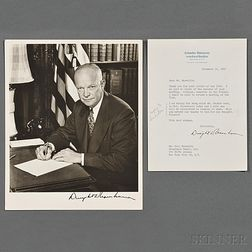 Eisenhower, Dwight D. (1890-1969) Signed Photograph and Typed Letter Signed 16 December 1950.