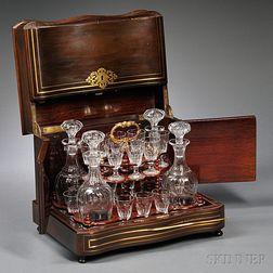 Napoleon III Brass-inlaid Liquor Cabinet