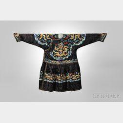 Black Silk Formal Court Robe