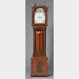 J. Black Mahogany Tall Clock