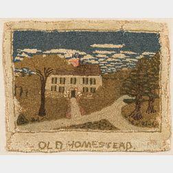 "Yarn-sewn ""Old Homestead"" Mat"