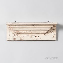 Cream-painted Wall Shelf