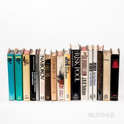 Seventeen Mostly First Edition Works of Modern Fiction.