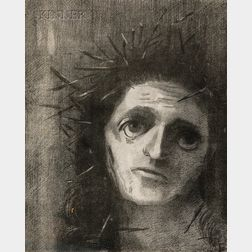 Odilon Redon (French, 1840-1916)      Christ