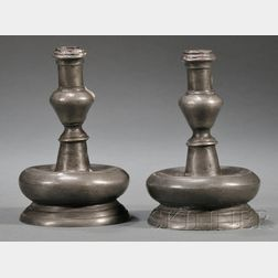 Early Pewter Candlesticks