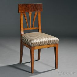 Biedermeier Walnut Side Chair