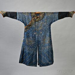 Blue Silk Gauze Dragon Robe