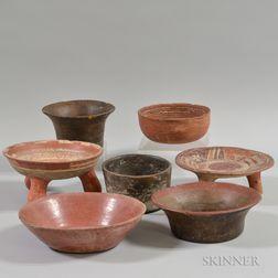 Seven Pre-Columbian Pottery Vessels