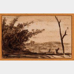 Henri-Joseph Harpignies (French, 1819-1916)    Landscape Study