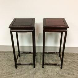 Pair of Wood Stands