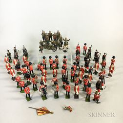 Seventy-nine Britains and Timpo Figures