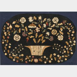 Floral Embroidered Table Mat