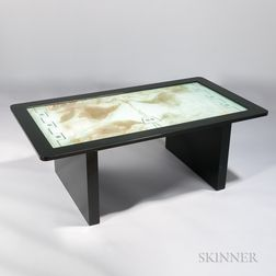 Mirrored and Etched Aquarium Table