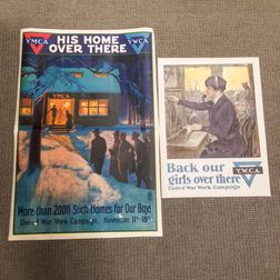 Two WWI YMCA and YWCA Lithograph Posters