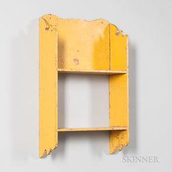 Yellow-painted Hanging Wall Shelf