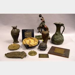 Twelve Assorted Decorative Metal Table Items