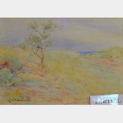 Lot of Two Framed Watercolor on Paper Landscapes Attributed to Edward Herbert Barnard (American, 1855-1909) and...