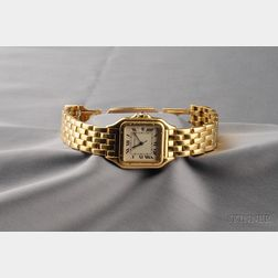 "Gentleman's 18kt Gold ""Panthere"" Wristwatch, Cartier"
