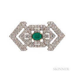 Art Deco Platinum and Diamond Brooch, Cartier