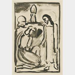 Georges Rouault (French, 1871-1958)      Christ prenant congé da sa mère