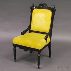 Victorian Eastlake-style Ebonized and Carved Side Chair