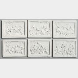 Six Art Pottery Tiles