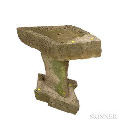 Three-piece Stone Bird Bath.     Estimate $250-350