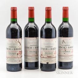 Chateau Lynch Bages 1990, 4 bottles