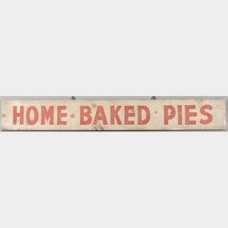 """Painted """"Home Baked Pies"""" Sign"""