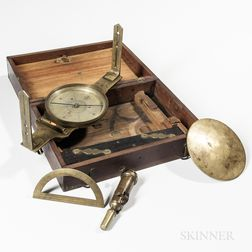William Young Cased Surveyor's Compass and Kit