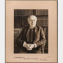 Edison, Thomas Alva (1847-1931) Signed Photograph.