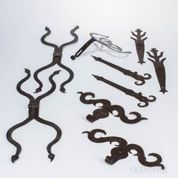 Large Group of Wrought Iron Hardware