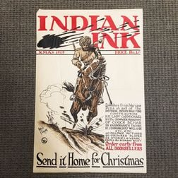 WWI Indian Ink   Lithograph Poster
