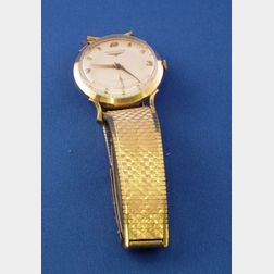 14kt Yellow Gold 17-jewel Longines Man's Wristwatch