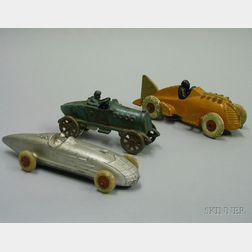 Three Cast Metal Race Cars