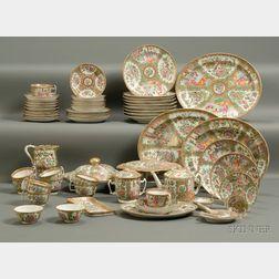 Assembled Group of Rose Medallion Porcelain Table Items