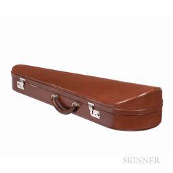 English Leather-bound Dart Violin Case, W.E. Hill & Sons