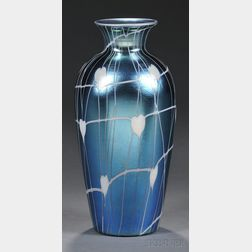 Threaded Vase Attributed to Durand