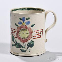 White Salt-glazed Stoneware Coffee Can